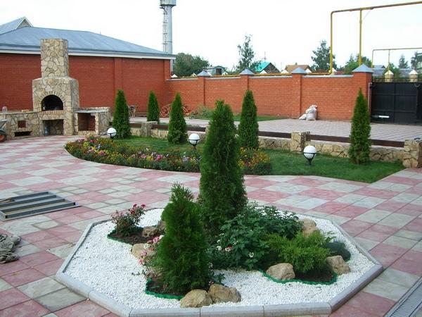Дизайн двориков фото